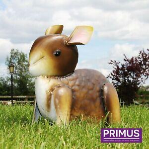Primus-Grey-Baby-Bunny-Rabbit-Metal-Garden-Lawn-Statue-Ornament-SPECIAL-OFFER