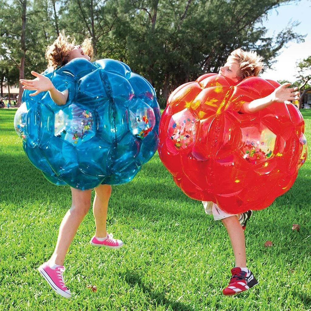 2xAufblasbare Stoßstange Körper Zorbing Ball Zorb Blase Fußball