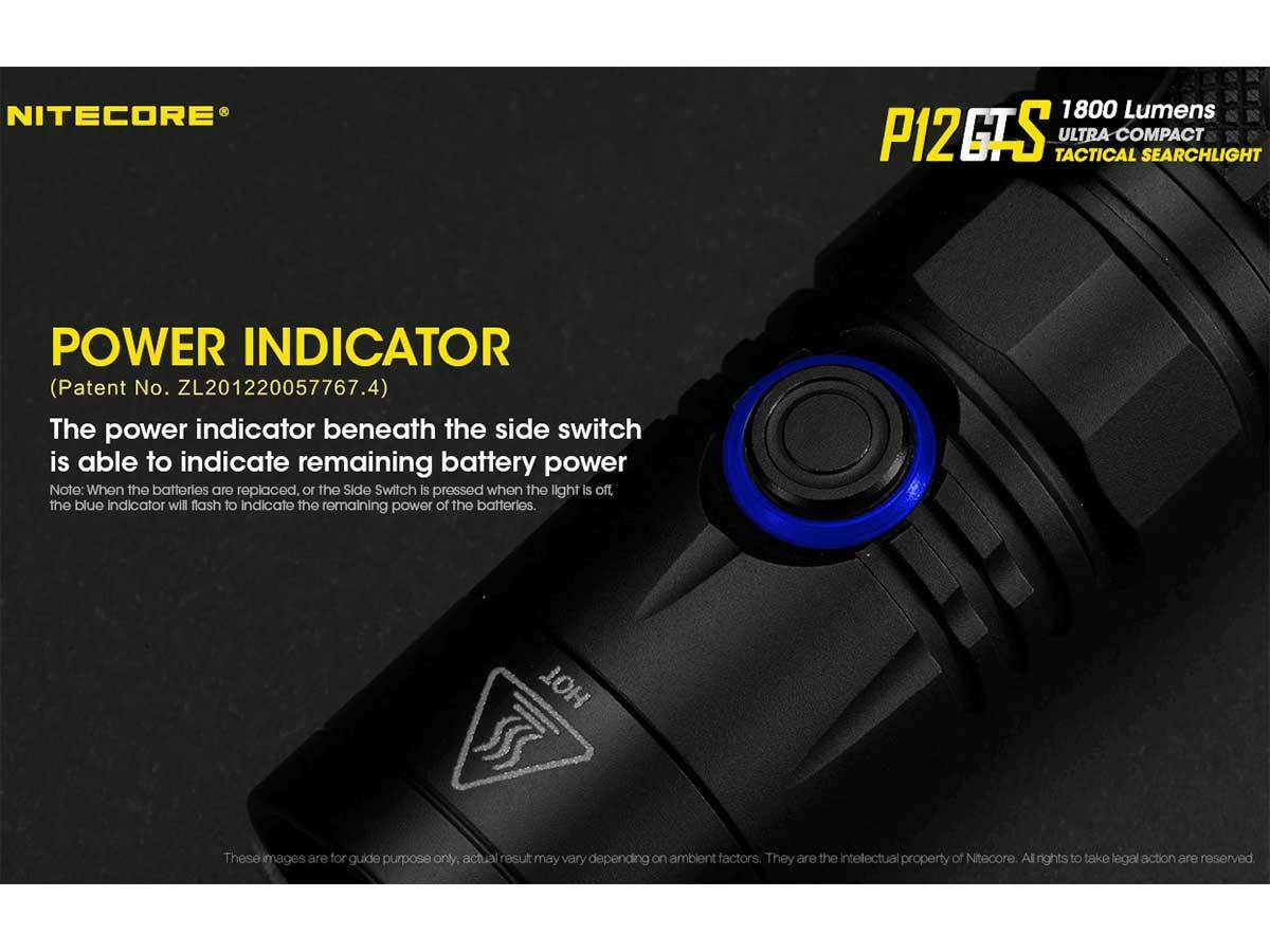 Nitecore P12GTS Flashlight -XHP35 HD LED w/10A w/10A LED Battery +Portable USB charger eaf1ad