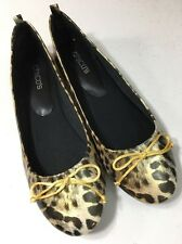 Chico's Leopard Flats Slip On Size 9 New Shoes Synthetic