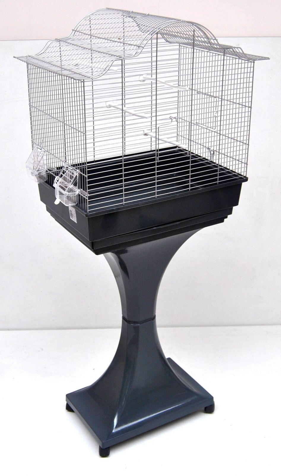 Mega Gabbia per Uccelli Uccelli Uccelli Canarini Budgie con Supporto c840bf
