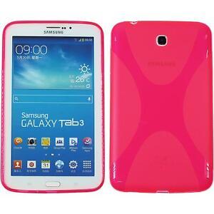 Coque-en-Silicone-Samsung-Galaxy-Tab-3-7-0-X-Style-rose-chaud