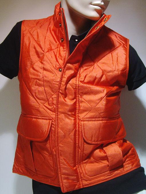 Ralph Lauren Damen kurzarm Seiden Weste Größe M   Grand View Vest  Orange