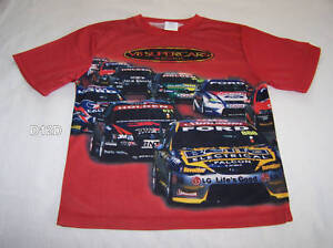 V8-Supercars-Holden-Ford-Boys-Red-T-Shirt-Top-Size-14-New