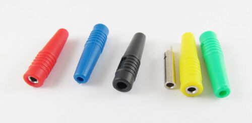 5pcs Copper 2mm Silicone Insulated Banana Female Jack Socket Connector 5 Colors