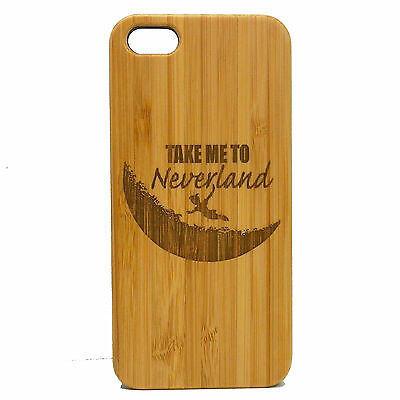 Neverland Case for iPhone SE 5 5S Bamboo Wood Cover Peter Pan Pixie Dust Fairy