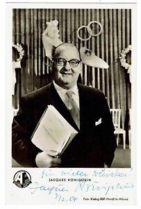 Jacques-Koenigstein-1971-original-signierte-KuB-Autogrammkarte-hand-signed