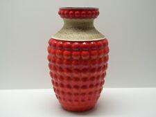 Bay Design Vintage Bodenvase aus Keramik ~1960/70 orange 50 cm Noppenvase Floor