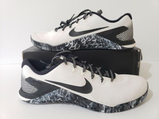 Nike Metcon 4 Crossfit Training Shoes White/Black/Sail (AH7453-101) Mens  Size 14