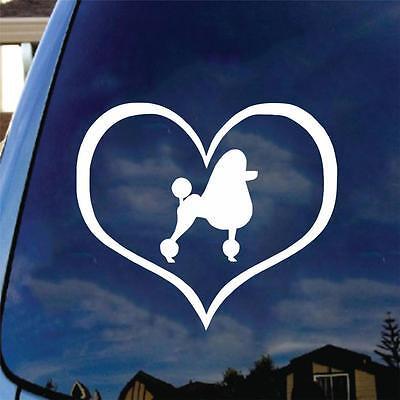 Pomeranian Heart Vinyl Decal Sticker Car Truck Love Pom Pom Dog Pet Cute Fluffy