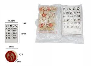 Set-40-Cartelle-90-Gettoni-Numerati-Numeri-Gioco-Bingo-dfh