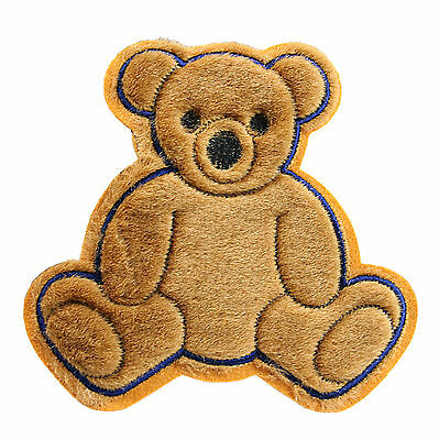"6.5/""x 6.5/"" Brown Furry Cute Kaylee Firefly Teddy Bear Sew On Applique Patches"