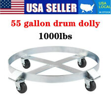 1000lbs Heavy Duty Drum Dolly 55 Gallon Steel Frame With 4 Wheel Swivel Casters Us