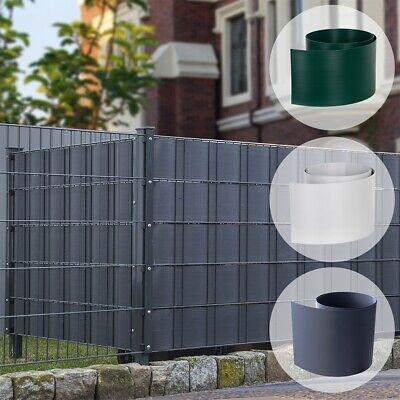 8x Sichtschutzstreifen GRAU Doppelstabmatten Zaunblende Windschutz Sichtschutz