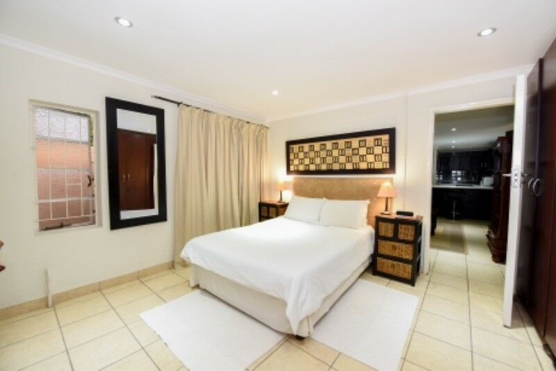 Pet friendly, fully serviced Bryanston apartment with own private garden.