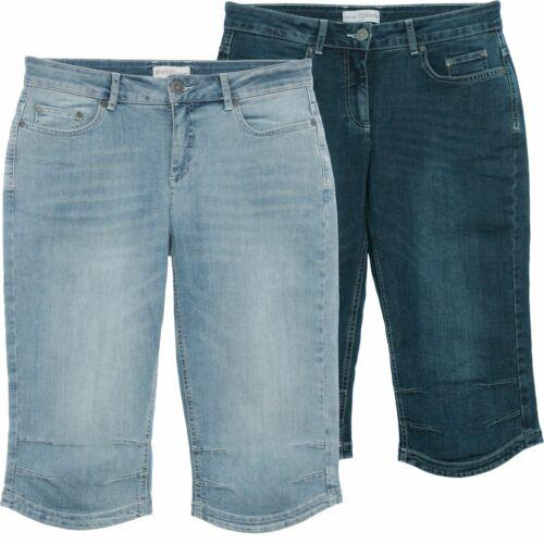 Sheego Capri Jeans Bermuda Pantalon Court Short Pants Femmes Stretch Denim plusgröße