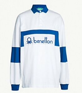 65f8c457204 Image is loading Benetton-rugby-shirt-80s-Casual-selfridges-Re-Issue-