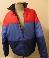 J. Crew Full Zip Insullated Ski Jacket / Coat in Blue/Blue/Red - Small