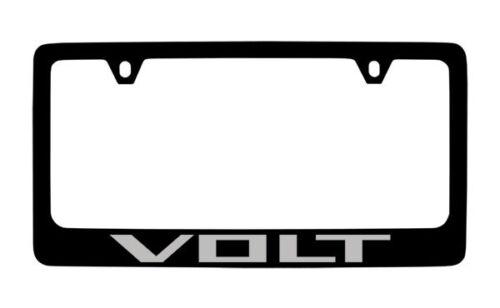 Chevrolet Volt Black Coated Metal License Plate Frame Holder