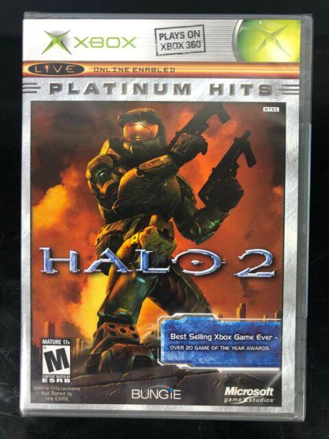 XBOX ORIGINAL PLATINUM HITS HALO 2 VIDEO GAME NEW FACTORY SEALED 1994