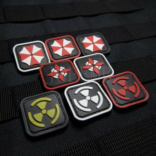 2piece Resident Evil Umbrella Cor U.S.S Biochemical threats PVC Patch soft shell
