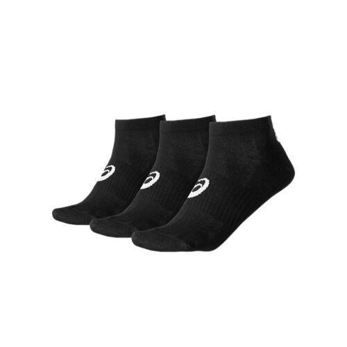 ASICS Ped Sock 3ppk Black 3er Pack Chaussettes Chaussettes Chaussettes De Sport Noir