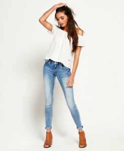 Image is loading Womens-Superdry-Cassie-Skinny-Jeans-Luna-Blue b55cc5169041