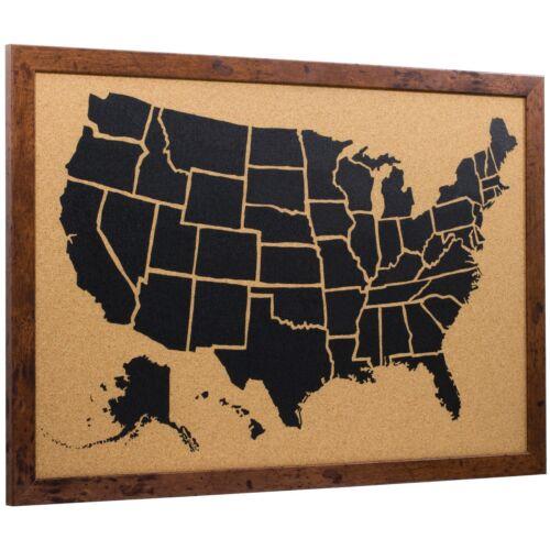 Craig Frames 16x20 Wayfarer Cork Board United States Push Pin Travel Map