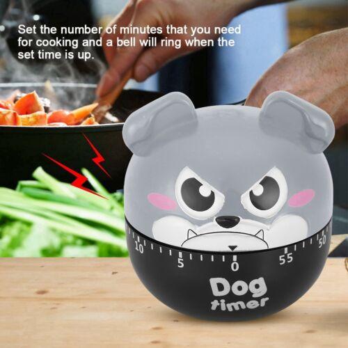55 Minutes Cartoon Mechanical Timer Kitchen Cooking Countdown Loud Clock Alarm