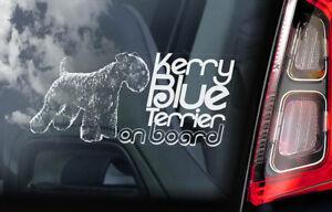 Kerry-Azul-Terrier-a-Bordo-Coche-Ventana-Pegatina-Irlandes-Perro-Signo-V01