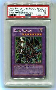 2003-Yu-Gi-Oh-Dark-Paladin-DMG-001-Secret-Rare-Duel-Master-039-s-PSA-10-GEM-MINT