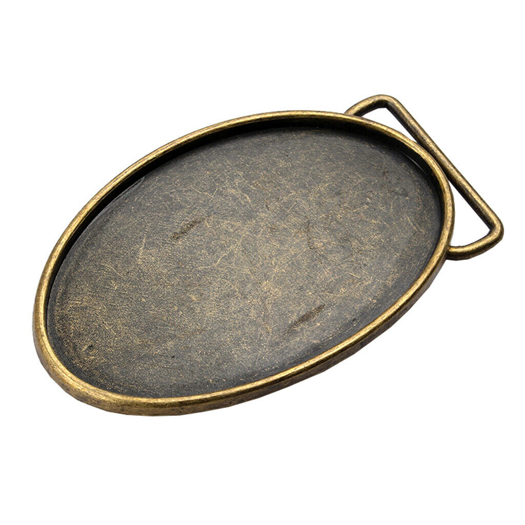 Herren Gürtelschnalle rohlinge Buckle Bronze für Gürtel mit einer Breite von
