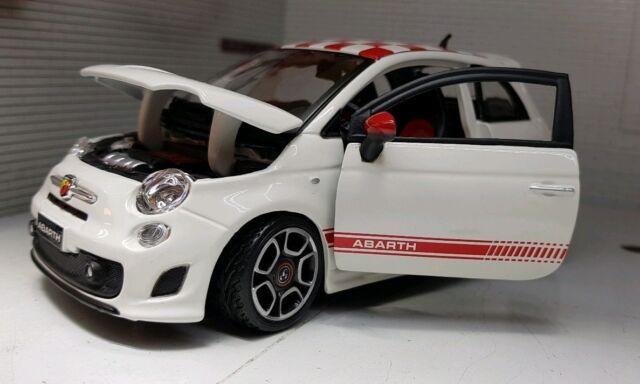 Bburago Fiat Abarth 500 Diecast Car 1 24 Scale B1822111 For Sale