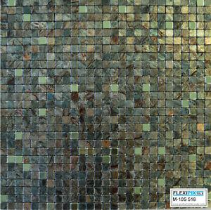 Kitchen Stick On Tiles Metal Effect