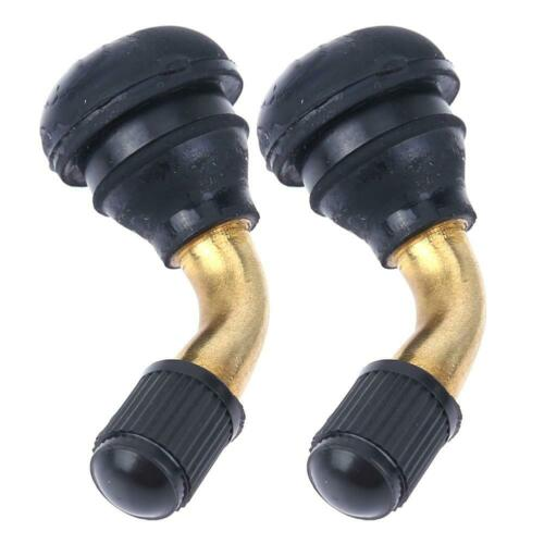 2pcs Snap-in Motorcycle Tubeless Tire Valve Stems for Scooter Dirt Bike