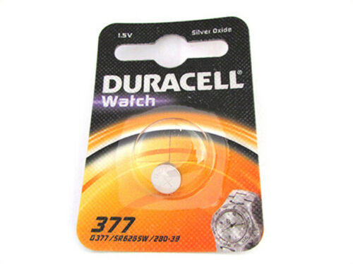 Cell Battery Button DURACELL Silver Oxide 377 D377 SR6265W 280-39 1,5V For Or
