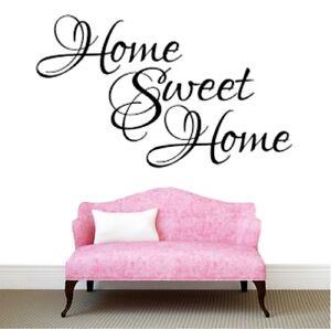 DéTerminé Home Sweet Home Wall Stickers Citation Art Décalcomanie Chambre Amovible À Faire Soi-même Salon-afficher Le Titre D'origine