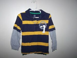 3fd9d19322 Carters Toddler Boy Size 3T shirts Long Slv Rugby Blue Yellow ...