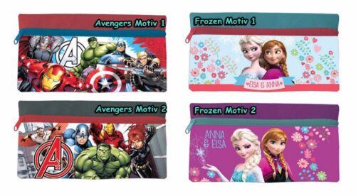Eiskönigin Frozen Avengers Tasche Federtasche Schlampermäppchen Federmappe Stift