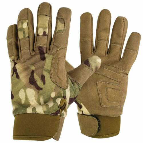Highlander Tactical Combat Airsoft Military Kevlar Lined Glove MTP Camo Style