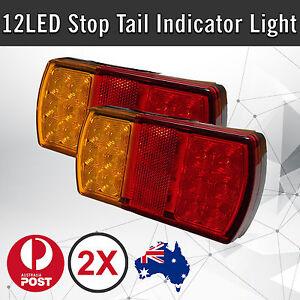 2-x-12-LED-Trailer-Lights-Tail-Stop-Indicator-Lamp-Truck-Trailer-12V