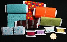 10 Stoffballen Miniatur 1:12 Nähzimmer Nähmaschine Puppenstube Puppenhaus 1:6