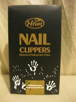Hfun Nail Clippers 3 Piece Set, 3mm Ss Clipper - Nail File & Brush -