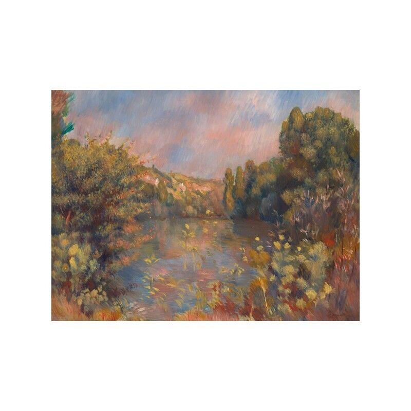 Quadro su Pannello in Legno MDF Pierre-Auguste Renero Lakeside Lakeside Lakeside Landscape cf4322