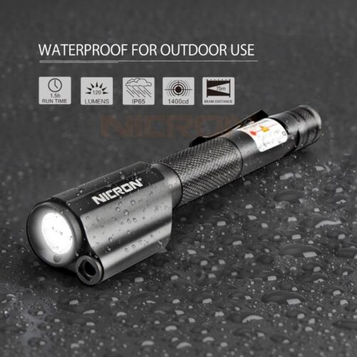 Nicron 120LM rote Laser Mini Pen Light Taschenlampe LED-Taschenlampe AAA