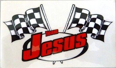 Team Jesus Racing Flags Decal