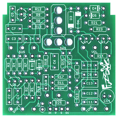 Pro Fabricated PCB for DIY Stompbox Build Buzzaround