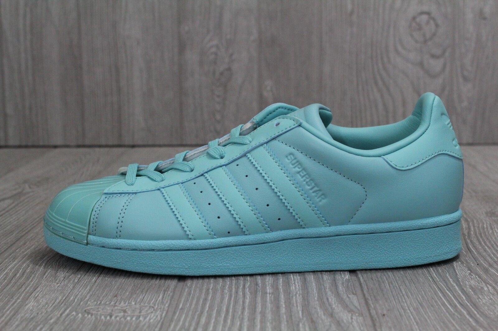 30 New Adidas Originals Superstar Glossy Toe Women's Mint shoes BB0529 7 8 10