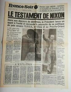 N710-La-Une-Du-Journal-France-soir-10-aout-1974-le-testament-de-Nixon