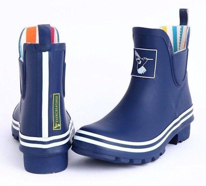 Evercreatures Blau Meadow Ankle Wellies Stiefel Gummistiefel Stiefel Blau